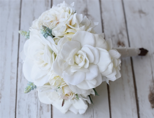 Faux Gardenia Peonies And Roses Wedding Flower Bouquet
