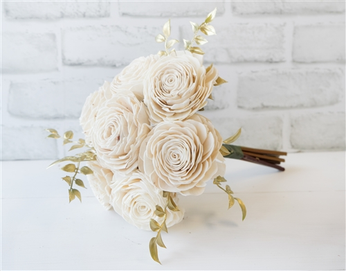Silk off white roses and hydrangeas real touch flowers bridal bouquet mightylinksfo