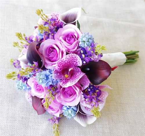 Bouquet of purple picasso callas mixed with lilac roses purple bouquet of purple picasso callas mixed with lilac roses purple sprays and blue hyacinths mightylinksfo