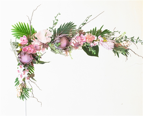 Roses and peonies boho garden greenery and flower mix real touch roses and peonies boho garden greenery and flower mix real touch silk wedding swag arch or table decor mightylinksfo